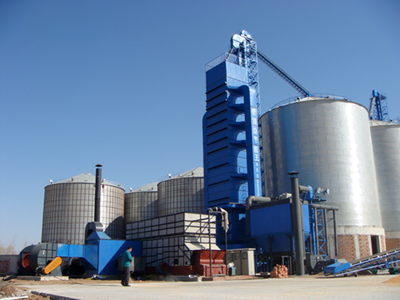 Grain drying tower
